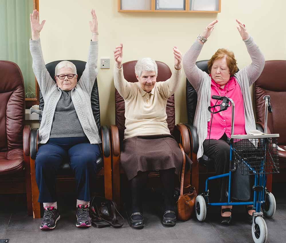 seated chair exercises for seniors